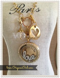 Memory Keepers ~ Origami Owl Living Lockets ~ Bren Yule: Gold and Window Plates-New Trends for Origami Owl!
