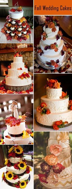 gorgeous fall wedding cakes ideas