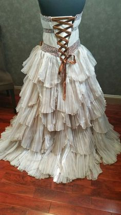 Rustic Steampunk Wedding Dress - Available in Every Color at WeddingDressFantasy http://www.weddingdressfantasy.com