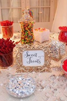 candy bar - for the kiddies. saw this at Chris' friend's wedding and it was a pretty great idea. worked out really nicely if there are a lot of kids at a wedding, keeps them occupied. just sit bags next to the candy so they can fill them up :)