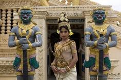 Apsara Dancer Performance in Temple, Cambodia
