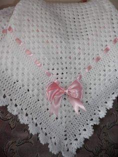 Crochet Baby Shawl, Crochet Square Blanket, Baby Girl Crochet Blanket, Crochet Baby Blanket Free Pattern, Easy Crochet Stitches, Crochet Baby Clothes, Baby Knitting Patterns, Crochet Instructions, Crochet Crafts