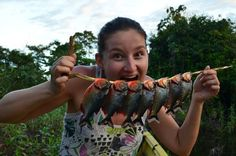 piranhas we caught for dinner in the Amazon of Bolivia