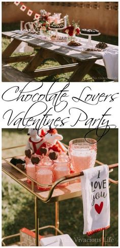 This chocolate lovers Valentines party is so easy to recreate and will be the most delicious celebration you have ever a. - This chocolate lovers Valentines party is so easy to recreate and will be the most delicious celebration you have ever attended. Cute Valentines Day Ideas, Valentines Day Birthday, Valentines Day Dinner, Valentines Gifts For Boyfriend, Valentines Day Treats, Kids Valentines, Valentine Crafts, Valentinstag Party, Valentine's Day Events