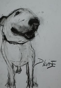 This combines my love for Bull Terriers, art and my last name all in one!