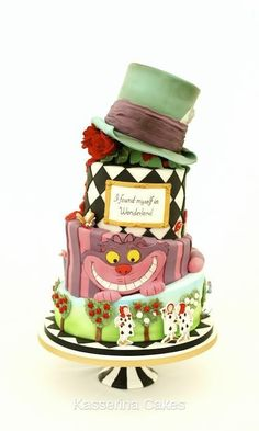 Alice in Wonderland wedding cake  - Cake by Kasserina Cakes