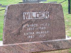 Almanzo and Laura's gravesite - Mansfield Cemetery - Mansfield, MO
