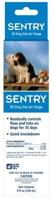 DOG FLEA DIPS - SENTRY 35 DAY DIP FOR DOGS - 8 OZ - SERGEANTS PET CARE PROD.,INC. - UPC: 73091020691 - DEPT: DOG PRODUCTS