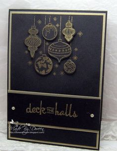 Hello to you all.I am here with Christmas card No I have used the Beautiful Baubles Stamp and Die bundlefrom Stampin up. Pinterest Christmas Cards, Christmas Cards 2018, Stamped Christmas Cards, Christmas Card Crafts, Homemade Christmas Cards, Stampin Up Christmas, Xmas Cards, Christmas Greetings, Homemade Cards