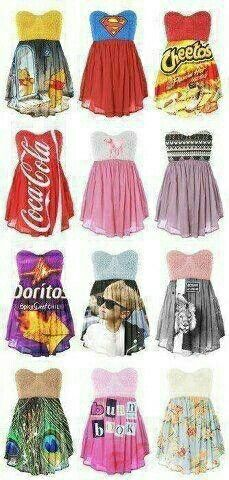 Funny dresses!