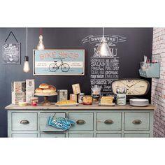 Tableau en bois bleu BIKE SHOP | Maisons du Monde