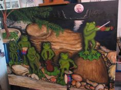 my frog band painting