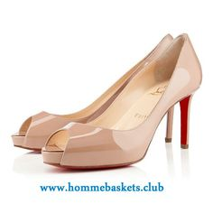 0b9bee767b7 Christian Louboutin Femme No Matter Vernis 85 mm NUDE Classique Chaussures  Boutique