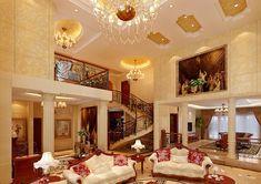 mediterranean decor | Browse Mediterranean style luxury villa interior design similar image ...
