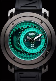 Ritmo Persepolis Black/Green Dual Orbital Swiss Automatic***