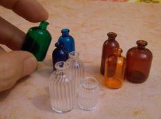miniature bottles - SO cute!