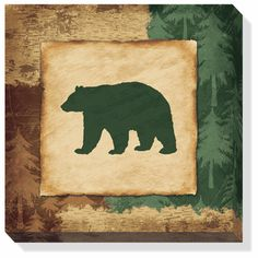 Bear Wrapped Canvas Wall Art