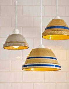 DIY Brilliant Bowl Lampshades