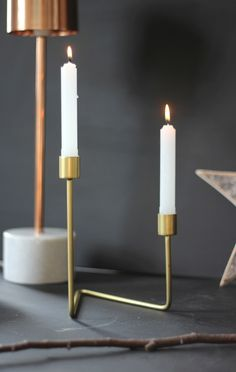 Simple and Chic.  Asymmetrical Gold Candle holders - these look incredible at this time of year. The candlelight is reflected in the gold creating a stunning glow.  Available at www.aprilandthebear.com Gold Candle Holders, Bear Art, Beautiful Textures, Glow, The Incredibles, Vase, Candles, Simple, Interior