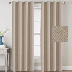 Amazon.com : french country bedrooms colors Curtains And Draperies, Burlap Curtains, Country Curtains, Room Darkening Curtains, Window Drapes, Grommet Curtains, Hanging Curtains, Country Bedrooms, Curtains Living