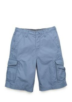 True Craft Bordie Blue Ripstop Stretch Cargo Short Boys 8-20