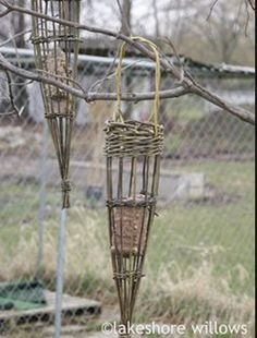 10th May Sunday  Willow Workshop:  Bird feeders,plant supports, cone hanging baskets  10 - 4  £40 plus £5 materials.  Tutor is Cath Pratle...