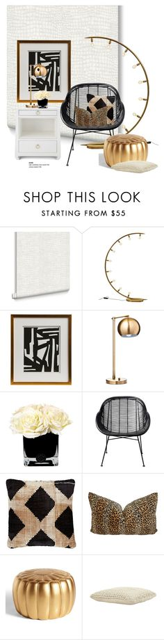 """Peyton Modern Classic Art..."" by gloriettequartet ❤ liked on Polyvore featuring interior, interiors, interior design, home, home decor, interior decorating, Graham & Brown, Bungalow 5, Threshold and Hervé Gambs"