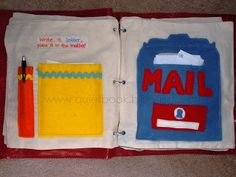 How to Make a Quiet Book: Pages 8 & 9: Mail