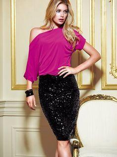 Sequin Pencil Skirt - Victoria's Secret
