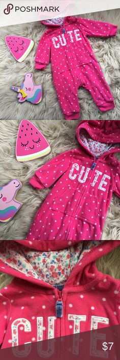 One piece So cute, perfect for cool nights to keep your little one warm. Carter's One Pieces