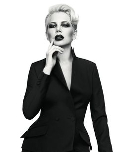 AnOther magazine, Michelle Williams (makeup by Gucci Westman)