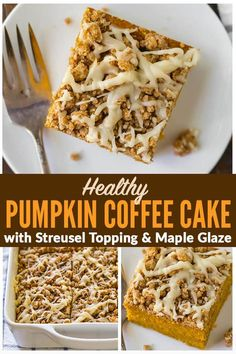Healthy Pumpkin Coffee Cake with Streusel Topping and Maple Glaze. Easy, moist, and PACKED with warm fall spices and maple flavor. This is the best from-scratch pumpkin cake recipe! No mix needed! via Well Plated halloween baking recipes Pumpkin Puree Recipes, Pumpkin Pie Mix, Healthy Pumpkin Pies, Pumpkin Coffee Cakes, Pumpkin Spice Coffee, Spiced Coffee, Pureed Food Recipes, Pumpkin Dessert, Baking Recipes
