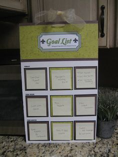Personalized Goal Board by TootSweetsGifts on Etsy, $12.00