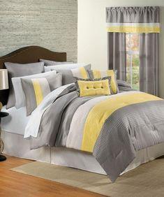 Yellow Gray Bedroom Bedroom Furniture Literie Jaune Chambre