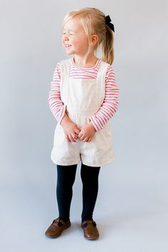 Toddler Romper - Toddler Playsuit - Vintage Romper - Snowfall Sowfall Sky (white double gauze) // Hair bow by Free Babes Handmade