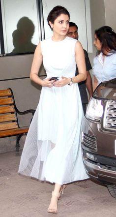 Want a similar white maxi dress that Anushka Sharma is wearing
