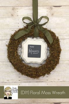live laugh rowe wreath