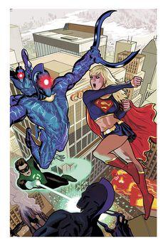 JLA #122 cover by Daniel Acuna