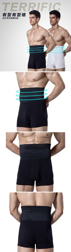 US$12.99 (47% OFF) Body Shaper for Men: High Waist Breasted Abdomen Belt Slimming Pressure Boxers