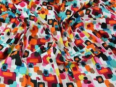 Abstract #painting print stretch #cotton sateen dress fabric #(mv-aw16-ivory-m),  View more on the LINK: http://www.zeppy.io/product/gb/2/381611686226/