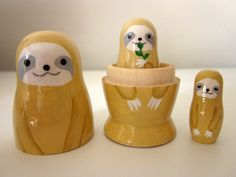 Sloth matryoshka doll