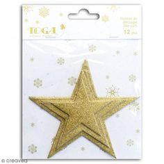 Die cuts Estrellas L'Or de Bombay - Oro purpurina - 12 pcs - Fotografía n°1