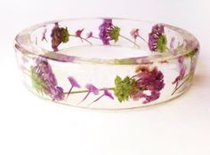 IFgal Real Wild Flowers in a clear gloss resin bangle by IFgal, $25.00