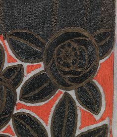 Textile attributed Sarah Lipska  (Polish, 1882–1973), Silk, Metal, 1920-29