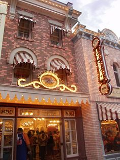Gibson Girl ice cream parlor in Disneyland. The best ice cream and waffle cones (made right there)