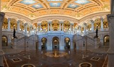 library of congress great hallway