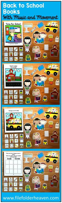 Get your students moving with Back to School Music and Movement Books. A fun, hands-on and interactive way to teach school-themed vocabulary words. Speech Language Therapy, Speech And Language, Receptive Language, Speech Therapy, Middle School Music, Back To School, Music Therapy Activities, Autism Books, Hygge Book