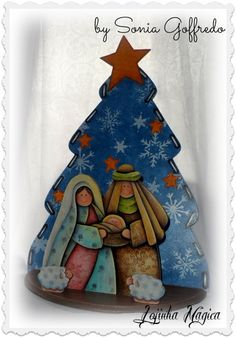 Lindíssimo presépio, totalmente pintado à mão.  Sua decoração de Natal merece este carinho!