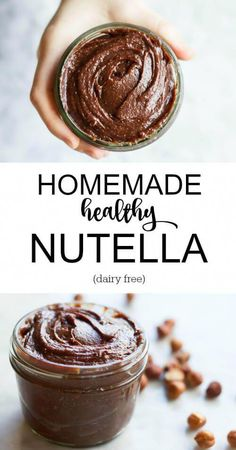 Homemade Healthy Nutella (dairy free) Savory Lotus is part of Healthy nutella - Healthy Nutella Only 6 ingredients No artificial garbage or hydrogenated oils Lightly roasted hazelnuts combined with sweet chocolate Real Food Recipes, Dessert Recipes, Cooking Recipes, Yummy Food, Breakfast Recipes, Breakfast Kids, Cooking Corn, Cooking Steak, Easy Healthy Breakfast