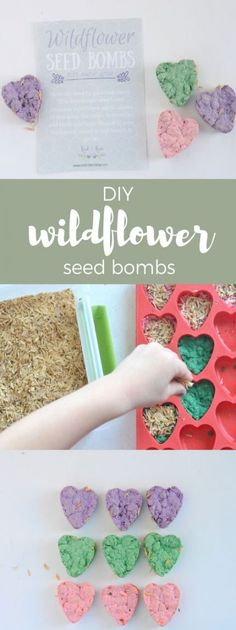 Cute recycled craft for Spring - DIY Wildflower Seed Bombs Diy For Kids, Crafts For Kids, Recycled Crafts Kids, Seed Bombs, Fleurs Diy, Seed Paper, Wildflower Seeds, Craft Club, Spring Nature